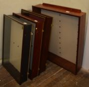 4 display cabinets which all come with glass shelves with the largest measuring approximately H 84cm