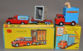 2 Corgi Toys Chipperfields Circus related dieast models, 503 Bedford TK Giraffe Transporter, G+/VG