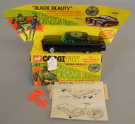 A Corgi Toys 268 The Green Hornet's 'Black Beauty', VG in G box and plinth, with plain envelope,