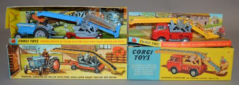 2 boxed Corgi Toys agricultural models, 64 Working Conveyor on FC150 Jeep and Gift Set 47 Working
