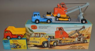 2 boxed Corgi Toys both based on Bedford TK vehicles, 494 Bedford Tipper and Gift Set 27 Machinery