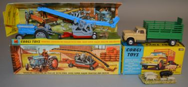 2 boxed Corgi Toys agricultural models, 484 Dodge Kew Fargo Livestock Transporter, G+/VG with five