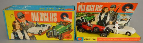 A Corgi Toys Gift Set 40 'The Avengers' containing Steed's Vintage Bentley in red and Emma Peel's
