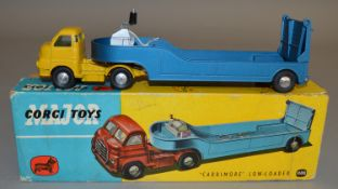A Corgi Toys 1100 'Carrimore' Low Loader, the variant with Bedford 'S-type' cab in yellow and
