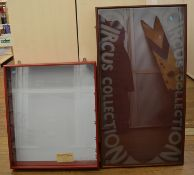 2 Chipperfields display cabinets, 1 is limited edition which includes a cards showing 57/2000