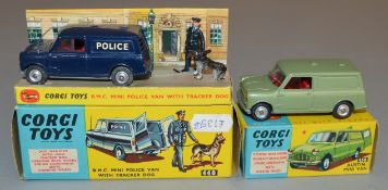 2 Corgi Toys diecast models, 450 Austin Mini Van, VG boxed, together with 448 BMC Mini Van '