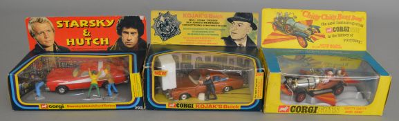 3 Corgi Toys Film and TV related diecast models, 290 Kojak's Buick (missing Police badge), 292