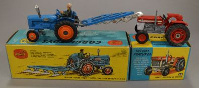 2 boxed Corgi Toys agricultural related diecast models,  66 Massey-Ferguson 165 Tractor, G+/VG in VG