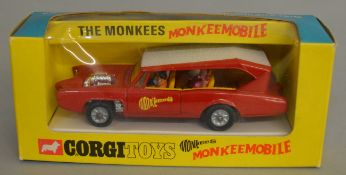 A Corgi Toys  277 Monkeemobile, appears  VG in G/G+ window  box packaging.