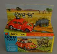 A Corgi Toys 256 Volkswagen 1200 in East African Safari trim, appears G+ in G+/VG box.