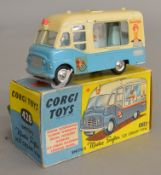 A Corgi Toys 428 Smith's Karrier 'Mister Softee' Ice Cream Van, G/G+ with some small chips in G