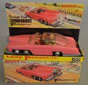 A Dinky Toys 100 Lady Penelope's FAB 1, containing Parker and Lady Penelope figures, with four