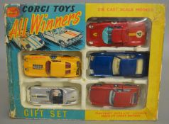 A Corgi Toys Gift Set 46 'All Winners' including 5 diecast model cars - E Type Jaguar (Competition),