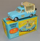 A Corgi Toys 474 Wall's Ford Thames 'Musical' Ice Cream Van, overall model appears G+ although as is