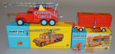 2 Corgi Toys Chipperfields Circus related dieast models, 1121 Circus Crane Truck, G+/VG in G/G+