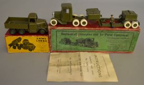 2 boxed Britains Military Vehicles, #1641 'Mechanical Transport and Air Force Equipment'