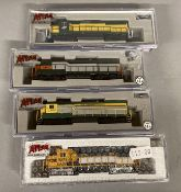 Ex-Shop Stock N gauge Atlas x4 Locomotives; #45962, #40 000 393, #45968, #53923 (4)