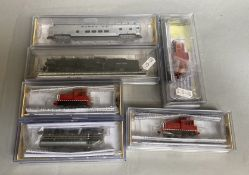 Ex-Shop Stock N gauge Bachmann / Spectrum Engines, 81852, 63751, 60091x2, 81661, and 74352. (6)