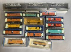 Ex-Shop Stock N Gauge Bachmann US Rolling Stock x 18 various railroads