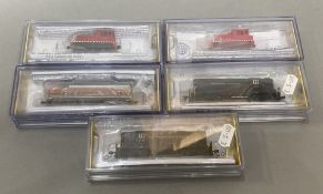 Ex-Shop Stock N gauge Bachmann / Spectrum 4 x Engines 62451 x 2, 60091, 63752, All VG/Mint together