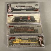 Ex-Shop Stock N gauge Atlas x4 Locomotives; #44028 #48074, #48616 and #44525 (4).