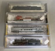 Ex-Shop Stock N gauge Bachmann / Spectrum 3 x Engines 86075, 86151, 51452, together with a 74352 San