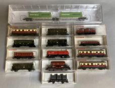 Ex-Shop Stock N Gauge Fleischmann Rolling Stock inc. 825305 4 Container load and 13 assorted Wagons