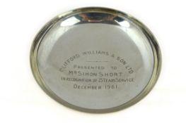 Silver dish H/M Birmingham 1961, approx 122gms