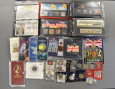 A quantity to include approx sixty two presentation packs (1995-2002), 1994 & 1995 Royal Mint