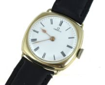 OMEGA - A circa 1930/40's Omega mechanical nickel chrome cased wristwatch, in overall good