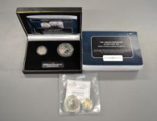 The Jubilee Monarchs Silver Coin Set with certificate & fitted case together with Brittania 1