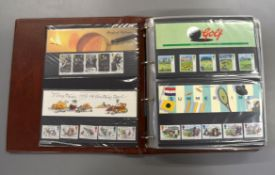 A folder of fifty eight Royal Mail presentation packs 1993-2002
