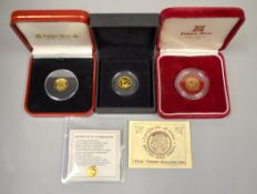 Four fine gold bullion coins, approx gross weight 4.9gms