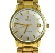 OMEGA - A circa 1970's gents Automatic Omega Seamaster gold plated wristwatch, dial is clean with no