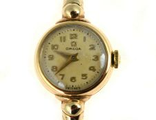 OMEGA - A 9ct ladies mechanical Omega wristwatch H/M Birmingham 1953, in overall very good