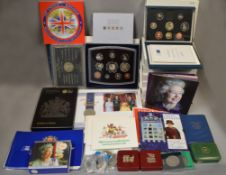 ROYAL MINT - A boxed quantity to include eight Royal Mint Deluxe proof coin sets 1990, 94, 95, 96,