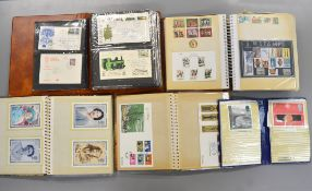 A boxed quantity of stamps, first day covers, presentation packs etc