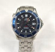 OMEGA - An Automatic gents Omega Seamaster GMT Professional Diver Co-Axial 300m stainless steel