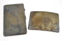 Two silver cigarette cases H/M Birmingham 1916 & 1940, approx gross weight 380gms