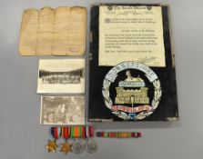 A possible prisoner of war WWII Burma Star group of four medals to Pte S.Short 14208134