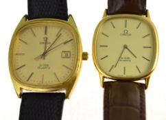 PLEASE NOTE DESCRIPTION HAS BEEN ALTERED - OMEGA - Two gents gold plated circa 1970's Omega De Ville
