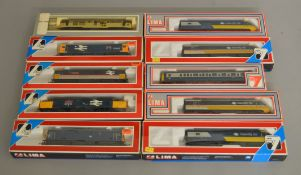 OO Gauge. 10 boxed Lima Diesel Locomotives including 205191 Class 73 '73125 Stewarts Lane' and