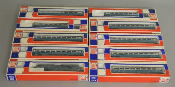 OO Gauge. A boxed Jouef 8912 Class 40 Diesel Locomotive '40026' together with 9 boxed Jouef blue and