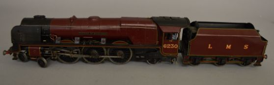 O Gauge. An unboxed kit built 4-6-2 Locomotive and Tender  'Duchess of Buccleuch 6230' in LMS