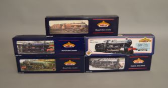 OO Gauge. 5 boxed Bachmann Steam Locomotives including 31-282 P/Boiler Scot 46151, 31-302 4-6-0
