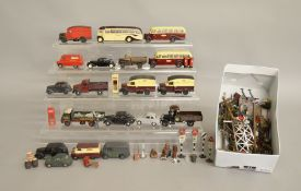 O Gauge. 19 unboxed metal vehicles including vans, cars etc., with some weathering and repainting,