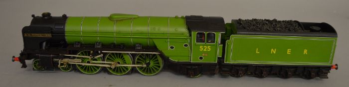 O Gauge. A boxed DJH factory kit built 4-6-2 Locomotive with Tender 'A.H. Peppercorn 525' in