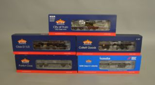 OO Gauge. 5 boxed Bachmann DCC Locomotives including 31-766NRMA 4-4-2 GNR Atlantic Class 62822, 32-