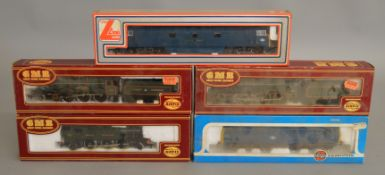 OO Gauge. 3 boxed GMR Locomotives including two 4-6-0 Locomotives with Tenders BR black '46100'