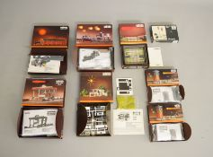 Z Gauge.  6 boxed Marklin mini-club Trackside Accessories and Buildings including 8968 Terrace House
